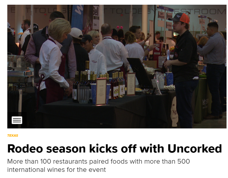 美酒配美食!Rodeo Uncorked美食大赛获奖结果揭晓 今年上榜餐厅都有哪些?