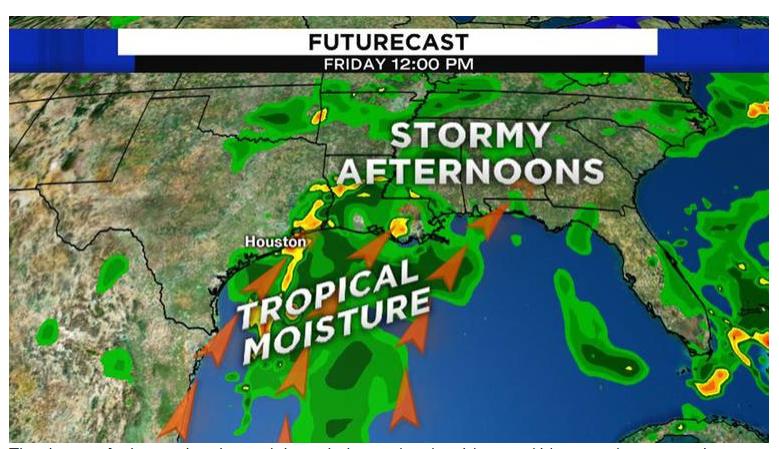 热带气流本周末抵达休斯顿 暴雨概率上升 小心街道泛洪